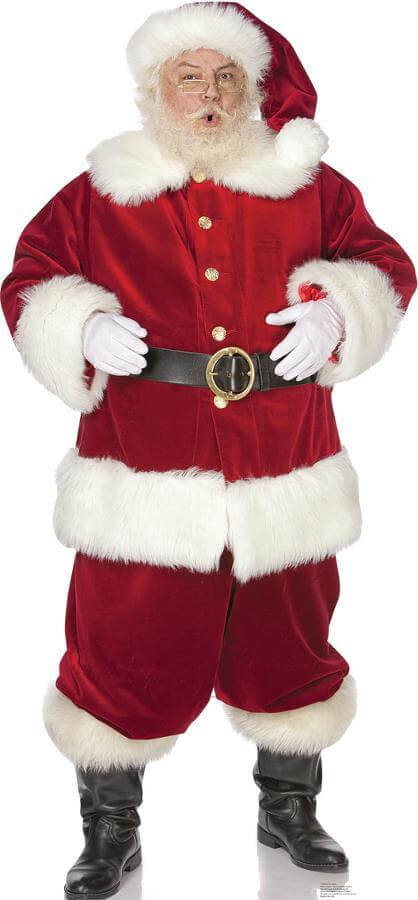 life size santa claus cut out
