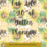 "fab life ""go""al getter planner"