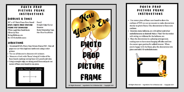 new year's eve photo prop picture frame