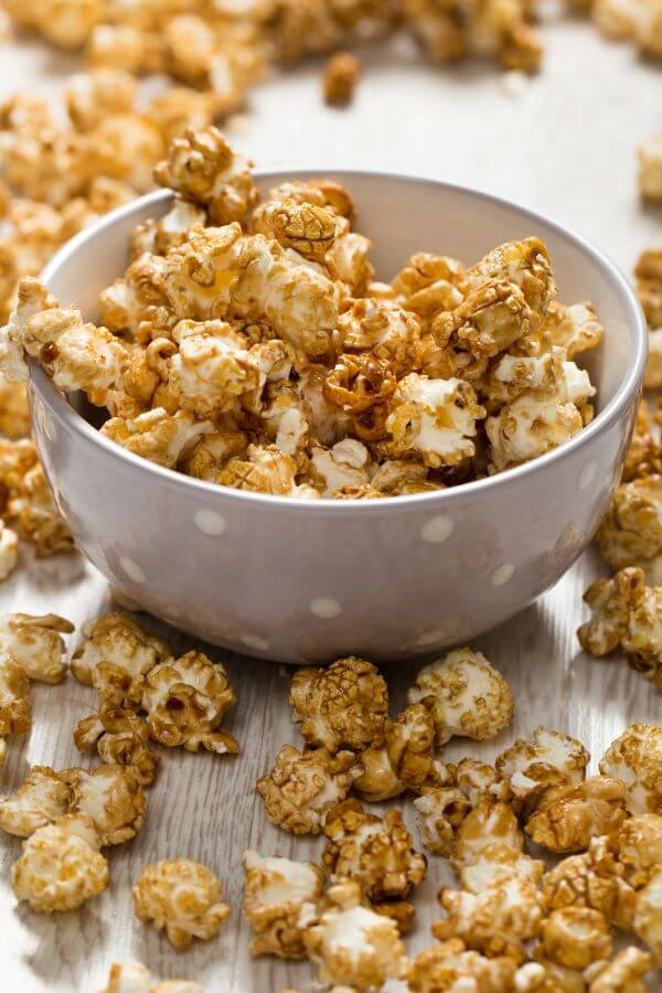 bourbon caramel and cashew popcorn
