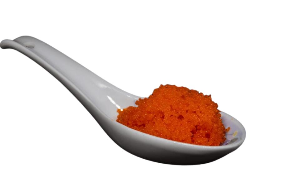 sturgeon caviar on japanese spoon