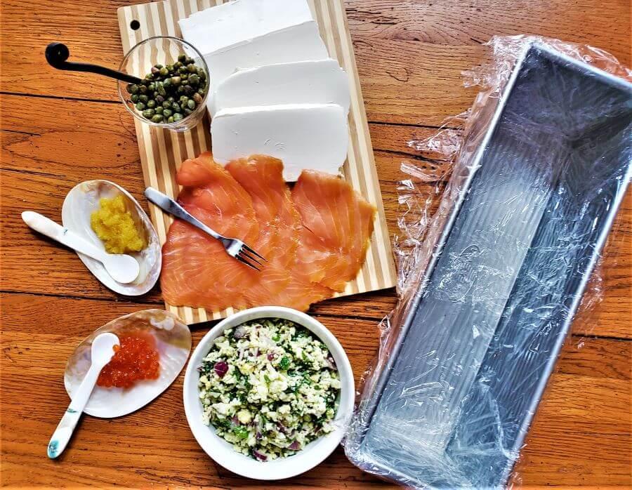 smoked salmon torte