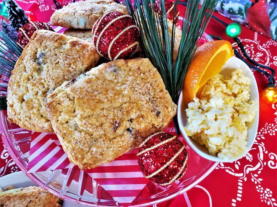 orange date scones