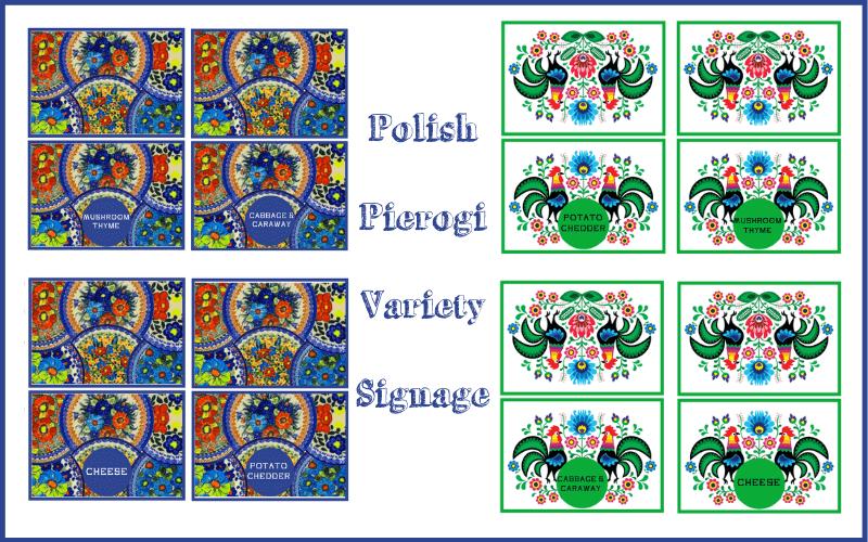 Polish pierogi recipe variety tent cards