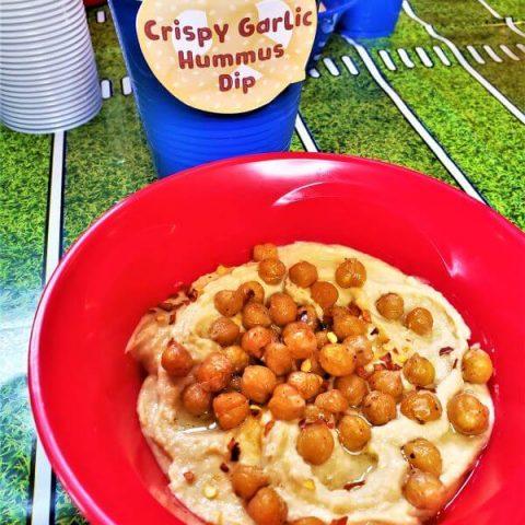 crispy garlic hummus dip