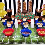 pretzel dipping bar with super bowl printables