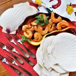 roasted shrimp with smoky chipotles cocktail sauce