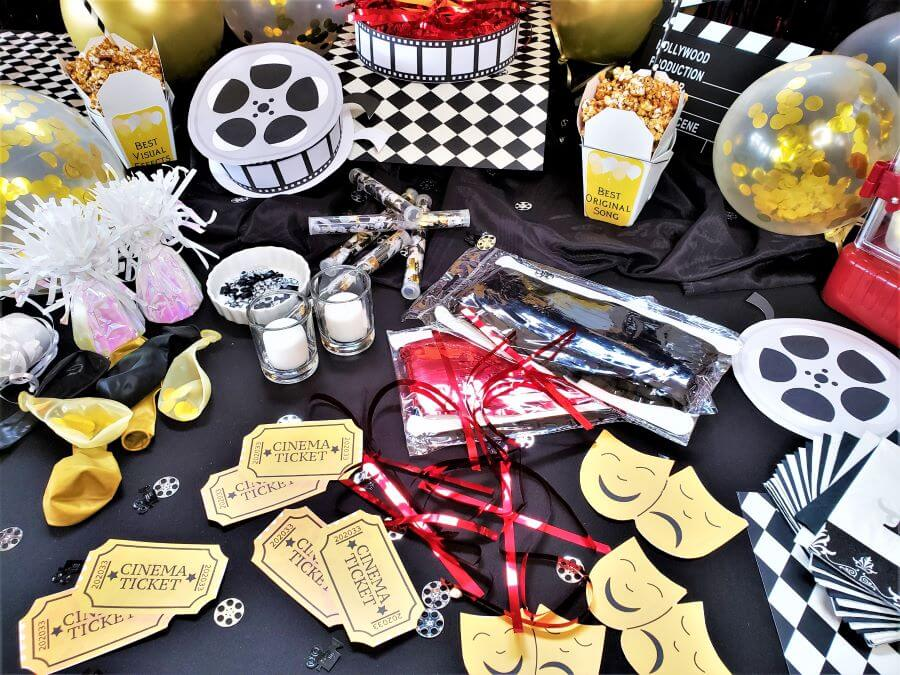 movie awards party tablescape