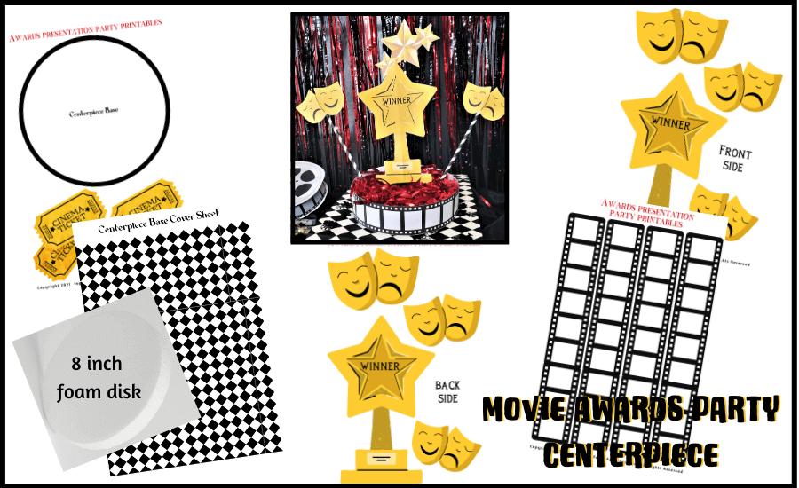 movie awards party winner trophy centerpiece
