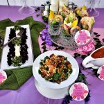 pamper me pretty party lunch buffet