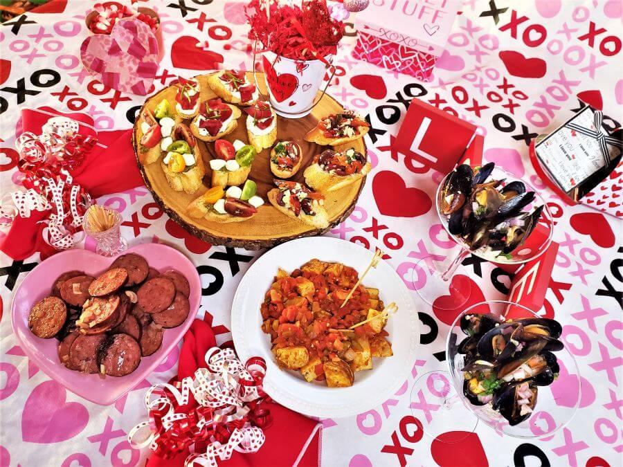 romantic tapas for two
