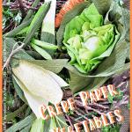 spring crepe paper vegetables