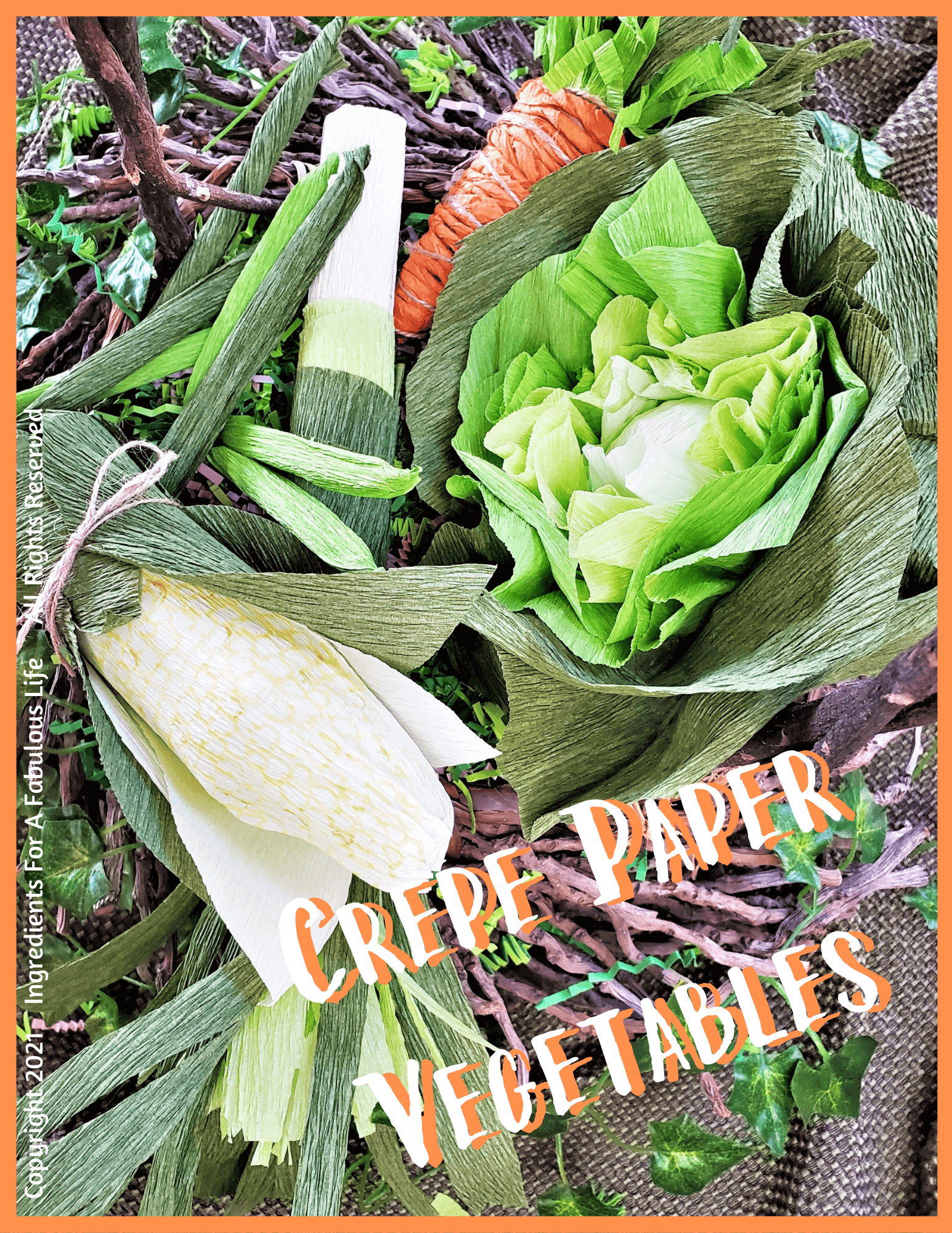 spring crepe paper vegetables