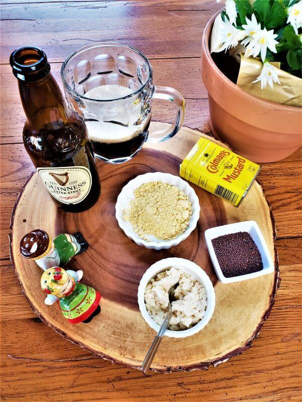 zippy horseradish beer mustard ingredients with flowers