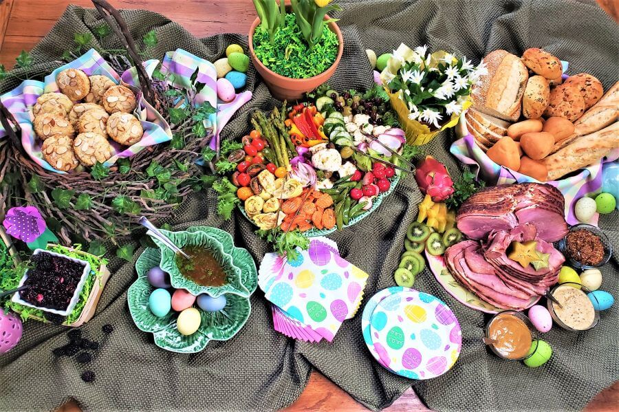 Easter brunch buffet by ingredients for a fabulous life