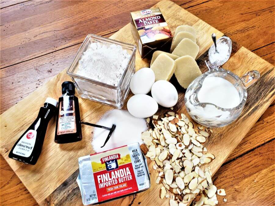 ingredients for filled almond scones