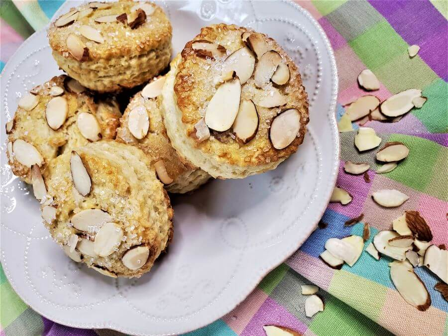 filled almond scones