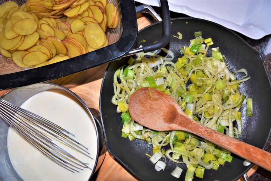 yukon gold leek and fennel gratin