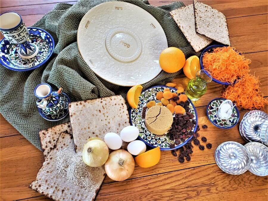 ingredients for Passover apricot carrot cakelets