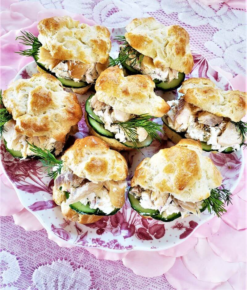 smoked trout and savory cream cheese appetizers