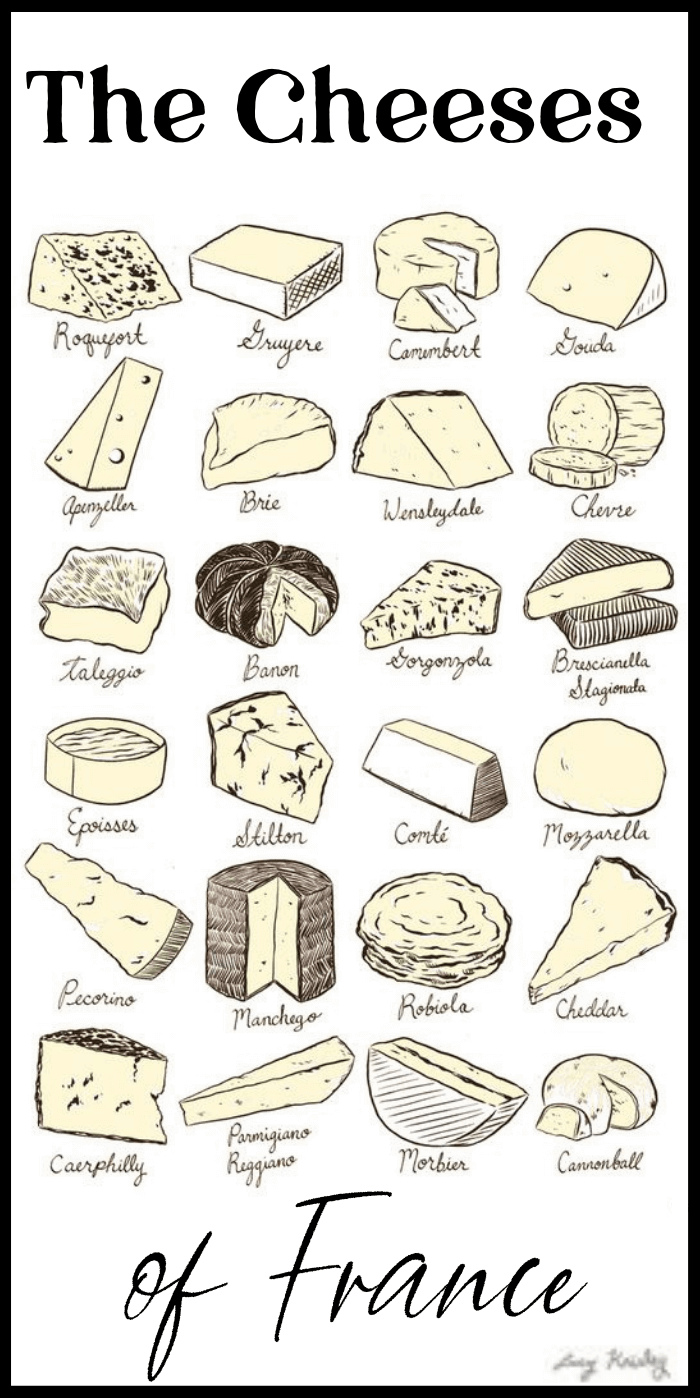 French cheese chart