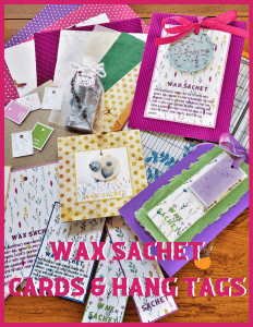 wax sachet cards and hang tag pdf cover