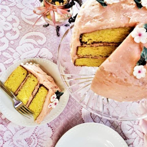 pink grapefruit chiffon cake