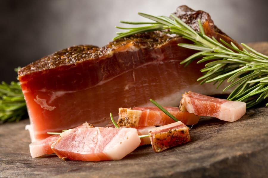 slab bacon for salade lyonnaise