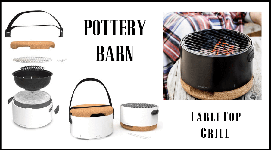 table top grill from pottery barn