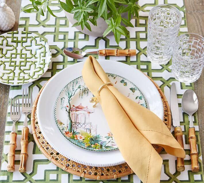 bamboo flatware for summer entertaining