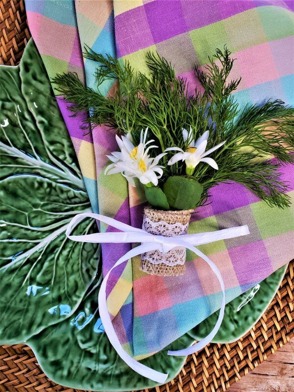 mother's day posies as guest favors