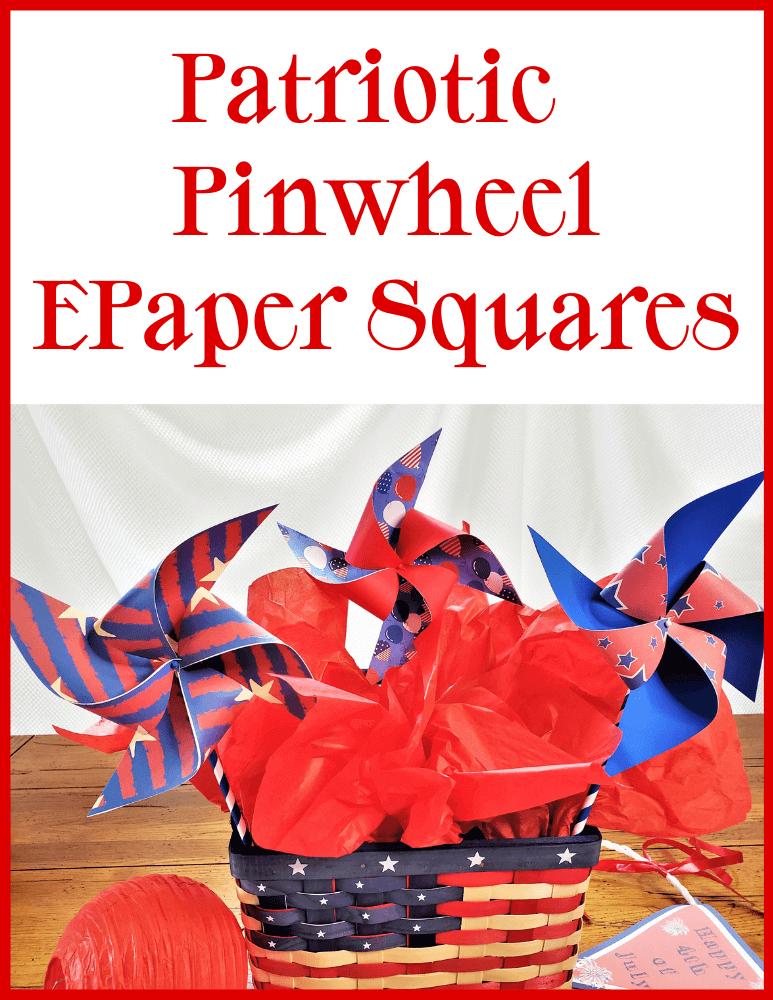 Patriotic Pinwheel EPaper Squares