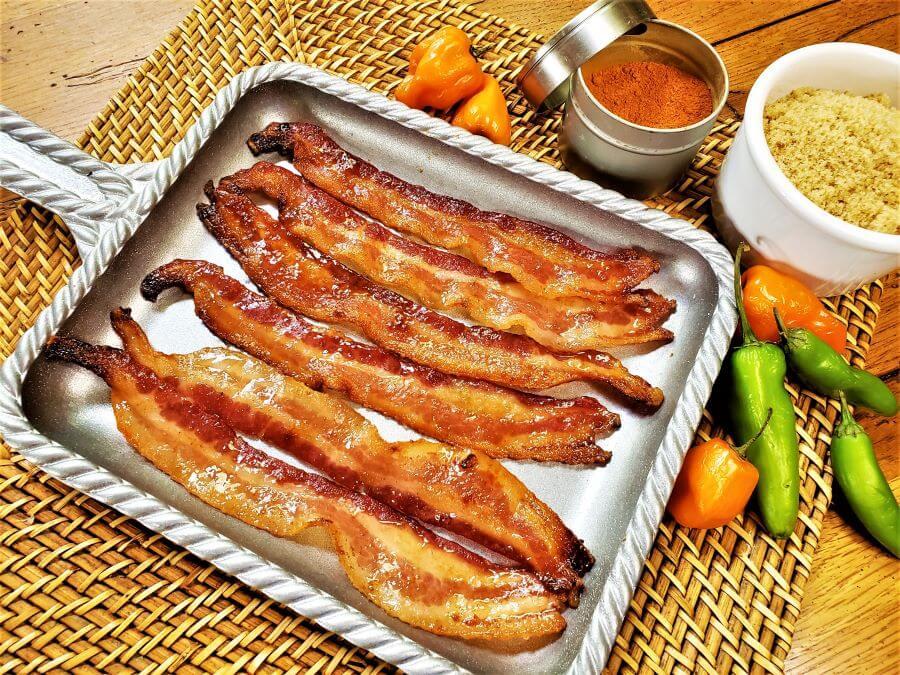 brown sugar and cayenne bacon