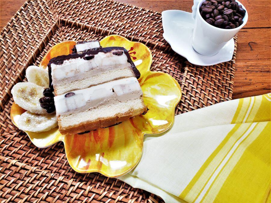 frozen coffee banana torte