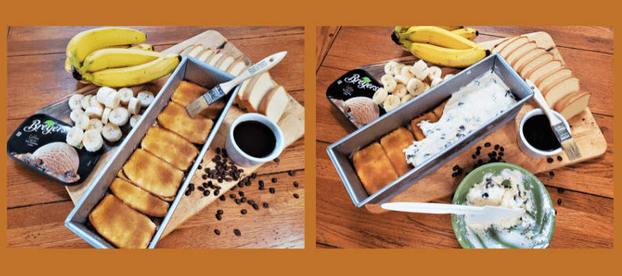 2nd set of layers frozen coffee banana torte