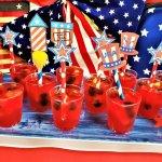 patriotic strawberry daiquiri jello shots