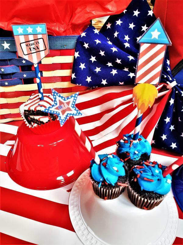 patriotic food pick signs