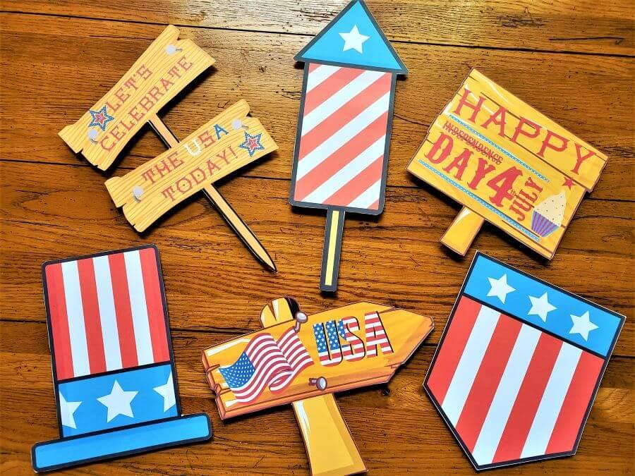 patriotic yard sign cutouts