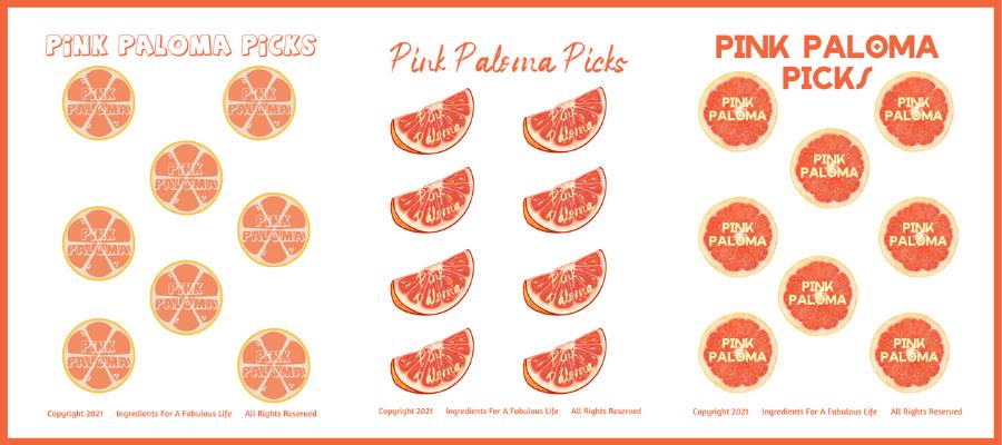 pink paloma jello shot picks