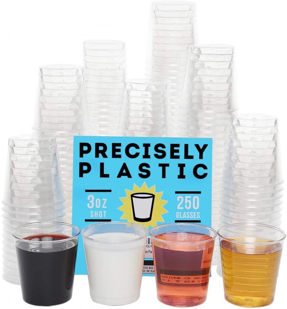plastic 3 ounce shot glasses for jello shots