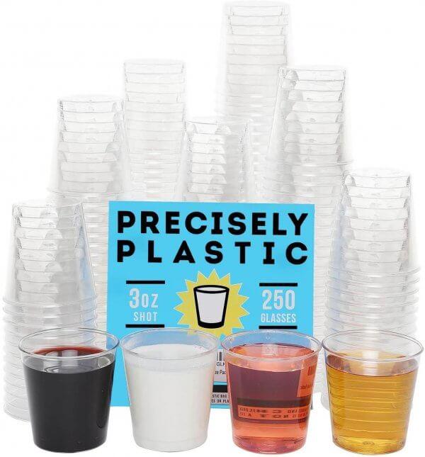 plastic shot glasses