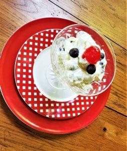 white chocolate dalmatian mousse