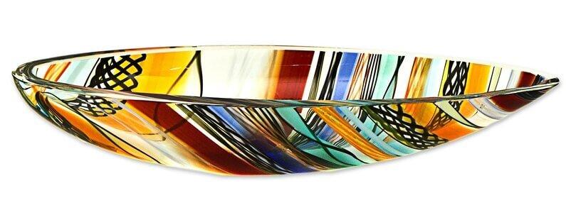 gilles rainbow eclipse glass bowl
