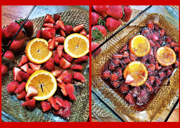 strawberry orange sauce