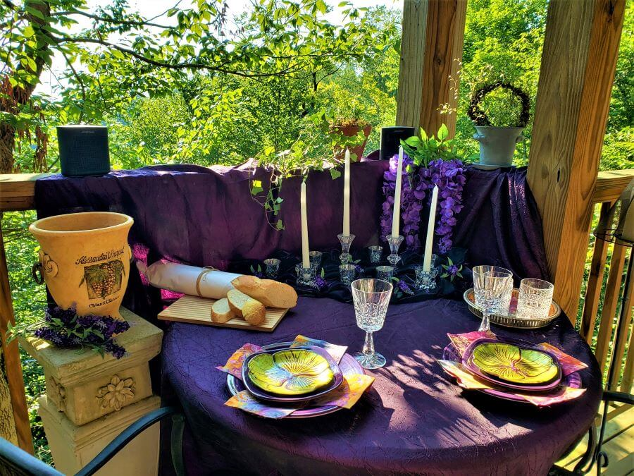 romantic al fresco dinner