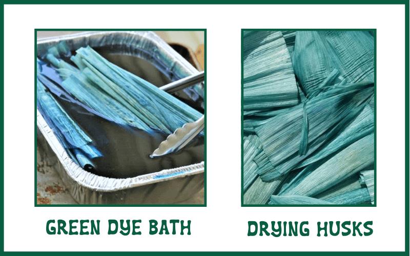 how to dye corn husks