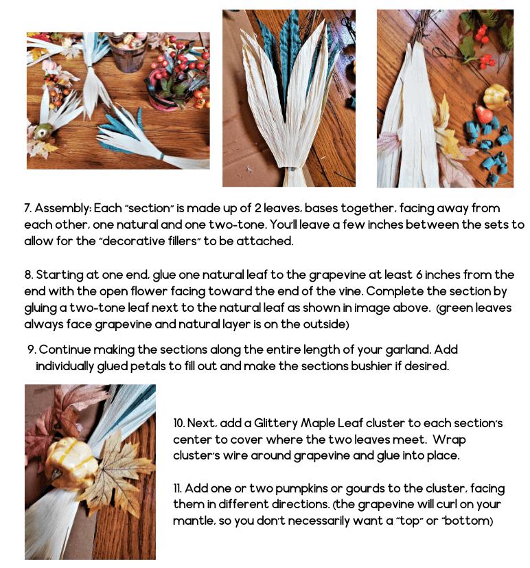 fall mantel garland craft project