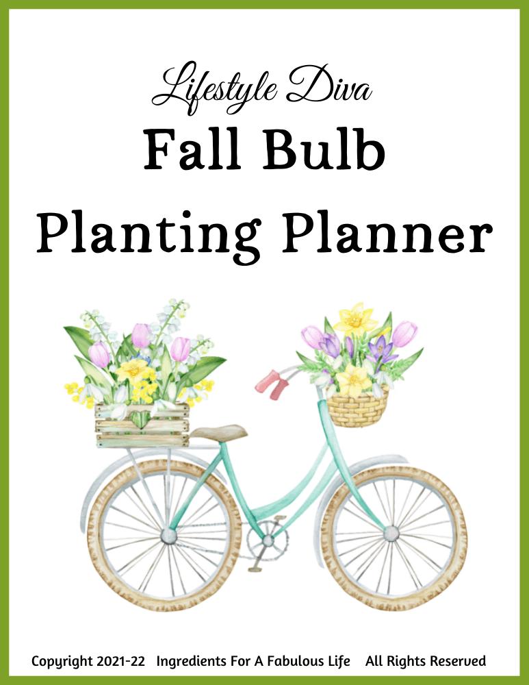 fall bulb planting planner