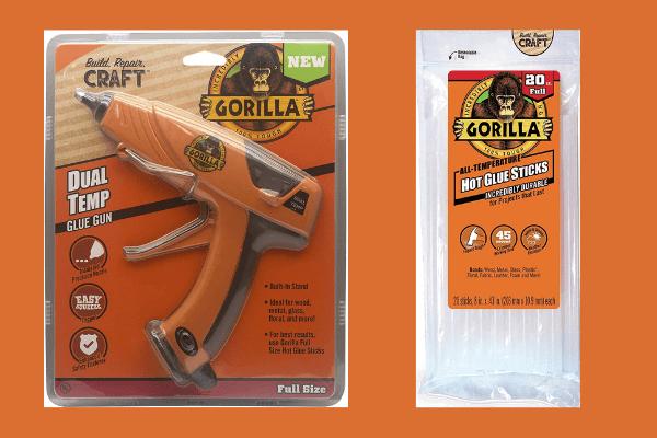 gorilla glue full size glue gun and glue sticks