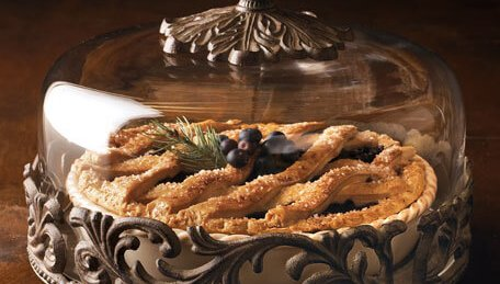 horchow luxury covered pie plate